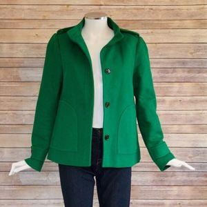Banana Republic Green Military Wool Pea Coat